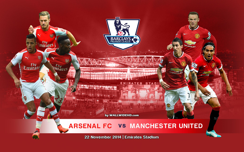 Arsenal FC vs Manchester United FC 2014 2015 BPL Wallpaper 2880x1800