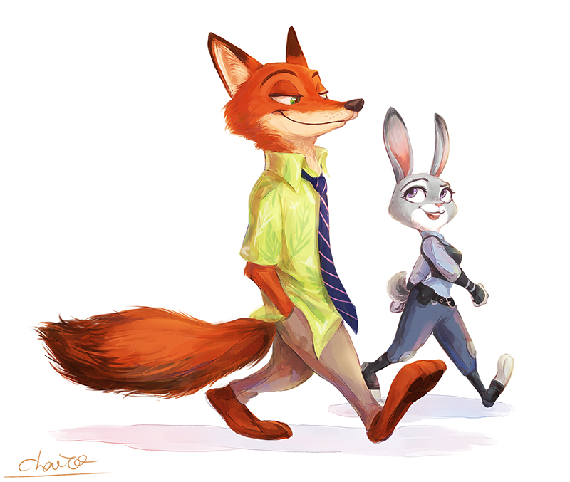 Free Download Judy Hopps And Nick Wilde By Chacckco 800x677