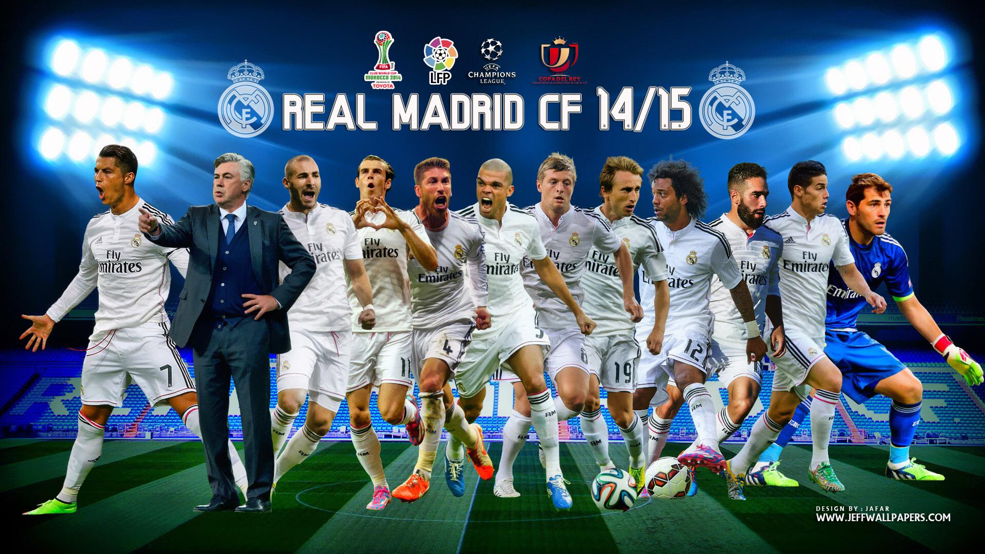 Download Real Madrid Spanish Club 2015 Team HD Wallpaper Stylish 1920x1080