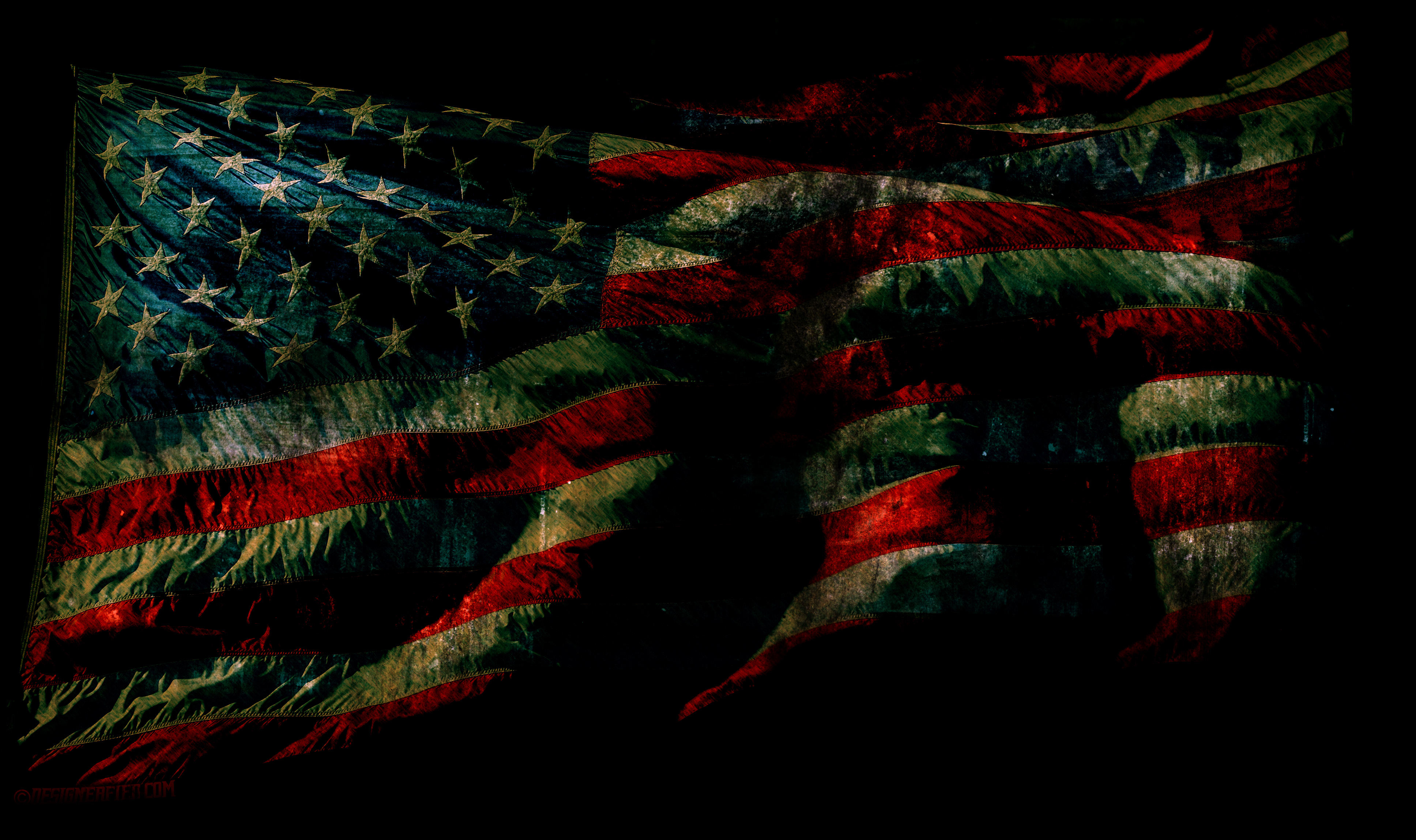 Grunge American Flag Wallpaper And PSD DesignerFied 3872x2297
