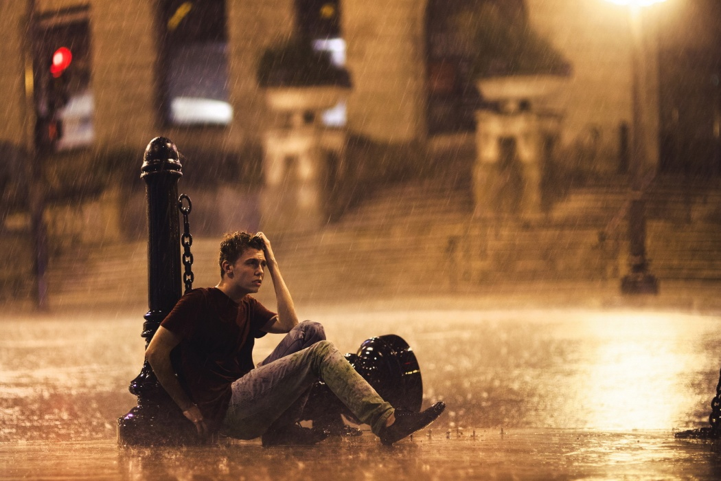 Sad Guy in Rain wallpaper Best HD Wallpapers 1050x700