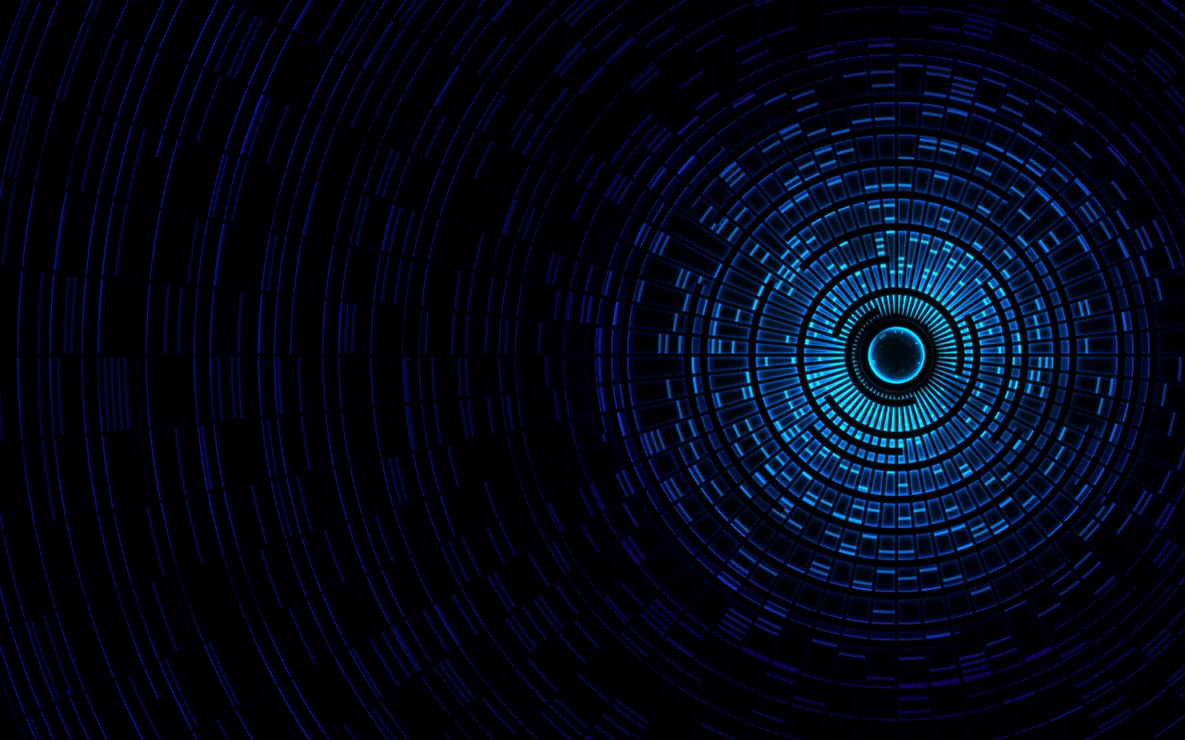 Blue Circle Pattern Abstract Design Texture Wallpaper WallpapersByte 3840x2400