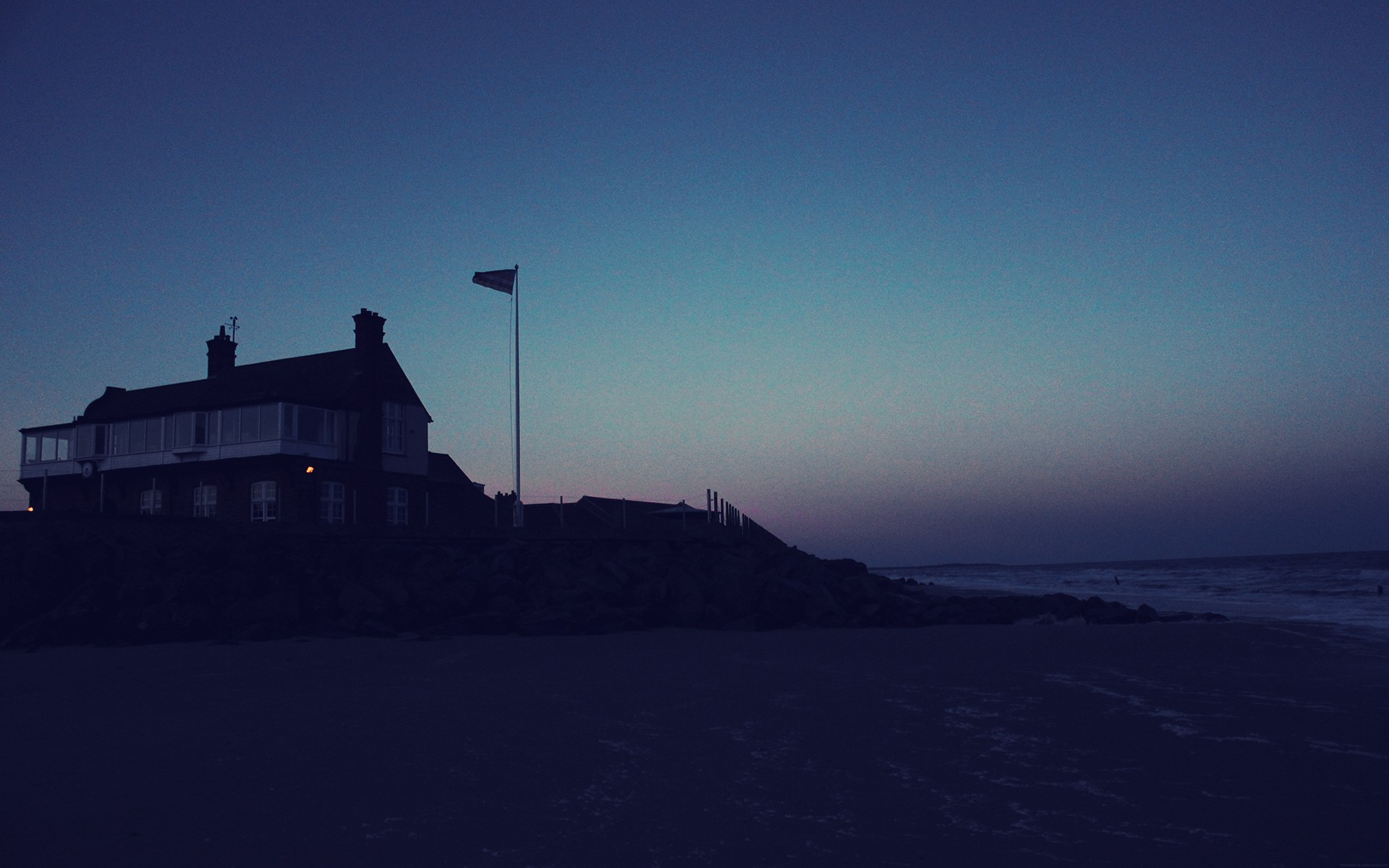 Beach House at Night wallpapers Beach House at Night stock photos 1920x1200