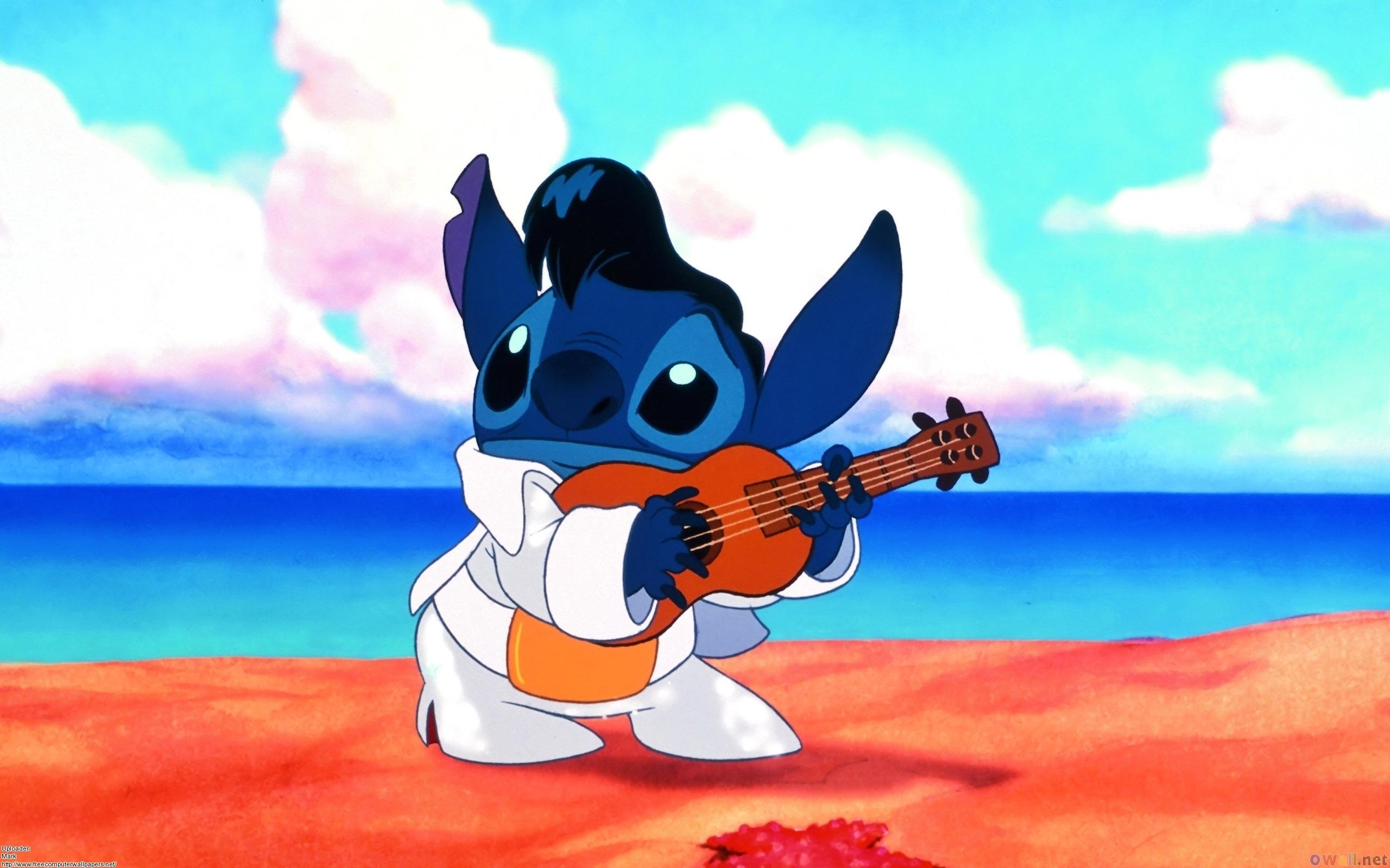 Disney Lilo Stitch Guitar Cartoons wallpaper background 2560x1600