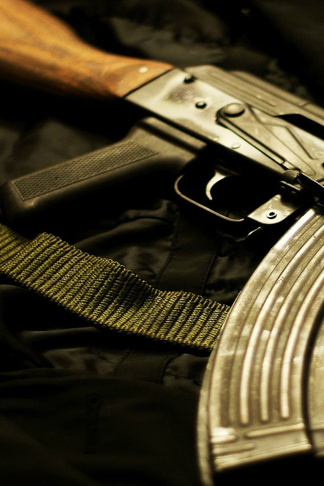 AK 47 iPhone 4 Wallpaper HD by Rapping rappingdeviantartcom 640x960
