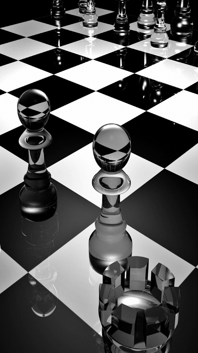 3d glass chess iPhone 6s Plus wallpapers HD 640x1136