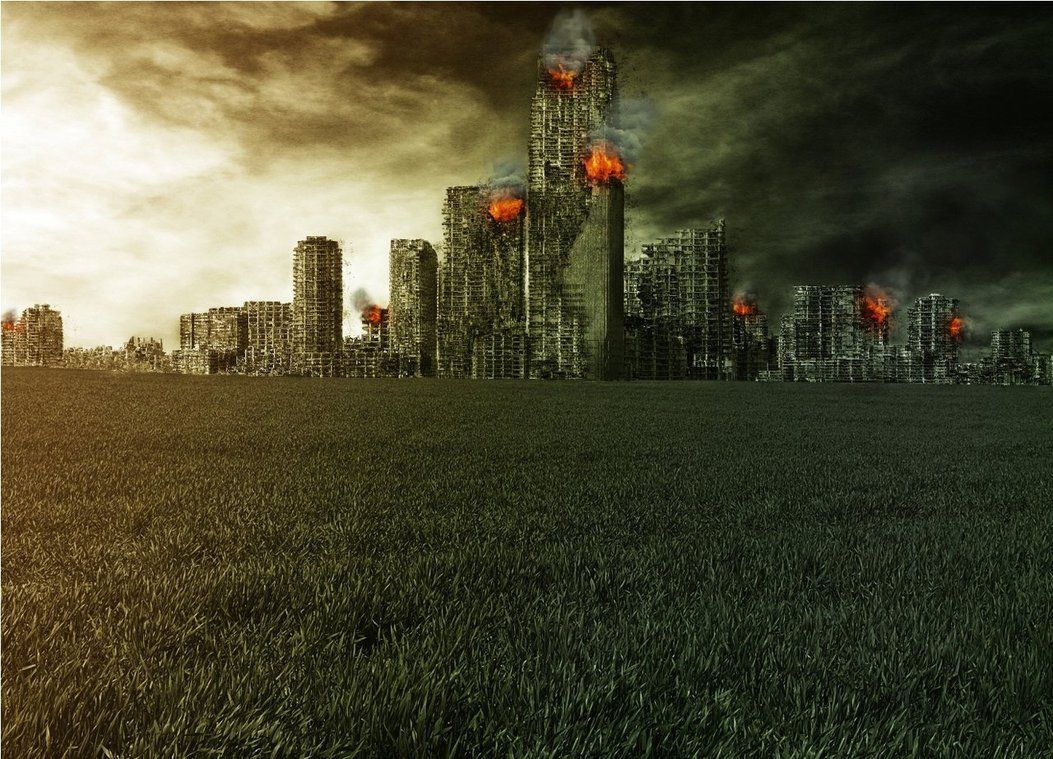 Destroyed City Backgrounds 1053x759