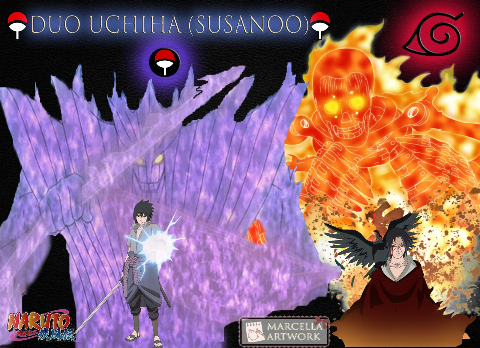 Free Download Wallpapers For Itachi And Sasuke Susanoo