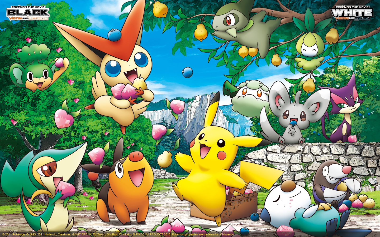 Free download Zekrom Victini Collage Berries [1440x900] for your Desktop,  Mobile & Tablet   Explore 73+ Pokemon Movie Wallpaper   Pikachu Wallpaper,  Awesome Pokemon Wallpapers, Epic Pokemon Wallpaper