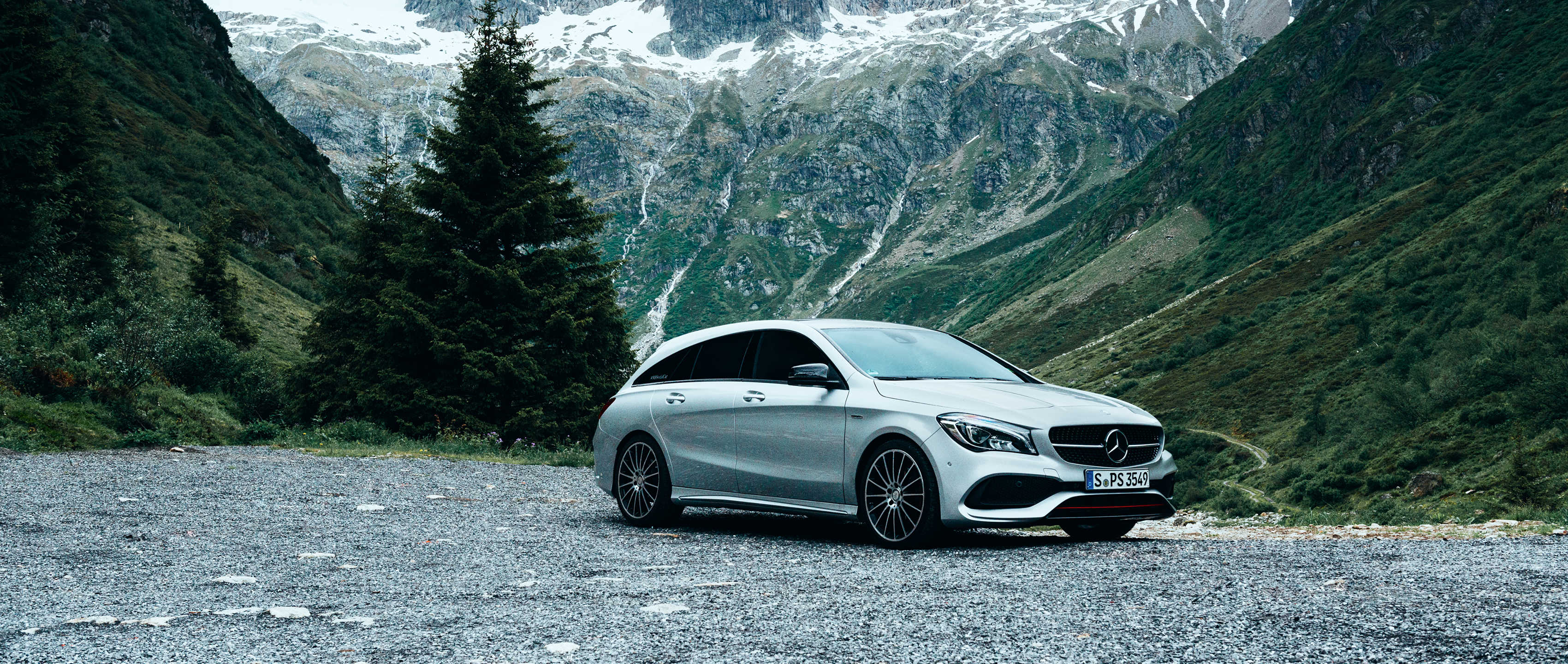 MBsocialcar Wallpaper CLA Shooting Brake 3400x1440