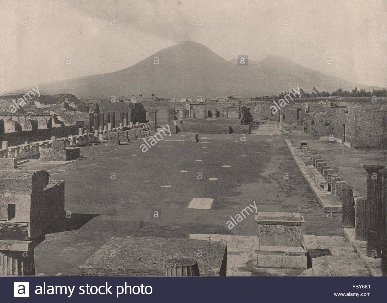 POMPEII View of the Forum with Vesuvius in the background Italy 1300x1018