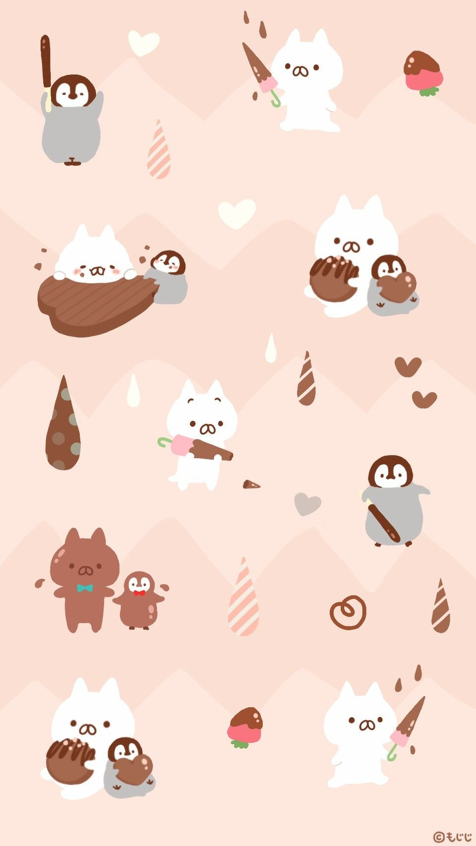 OnigiriNekoNoriPenguin Character design Cute wallpapers 960x1706