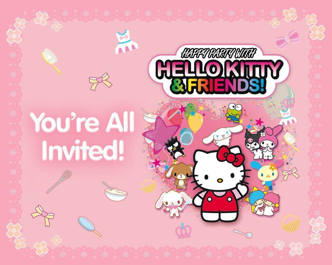 Free Download Hello Kitty And Friends Wallpapers 1280x1024 For