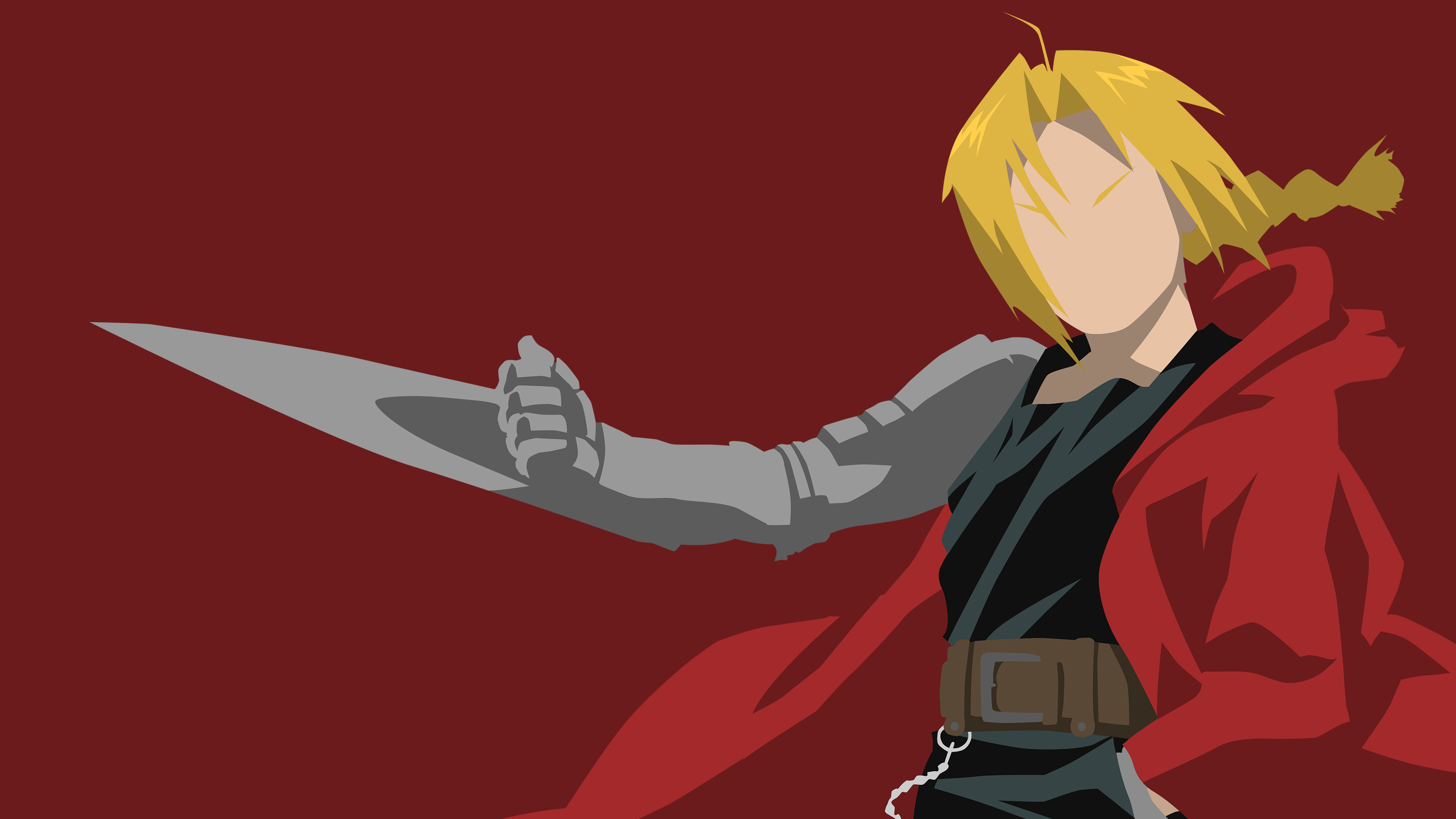 Edward Elric Wallpaper Dark Red Version by tonyp2121 on 3840x2160