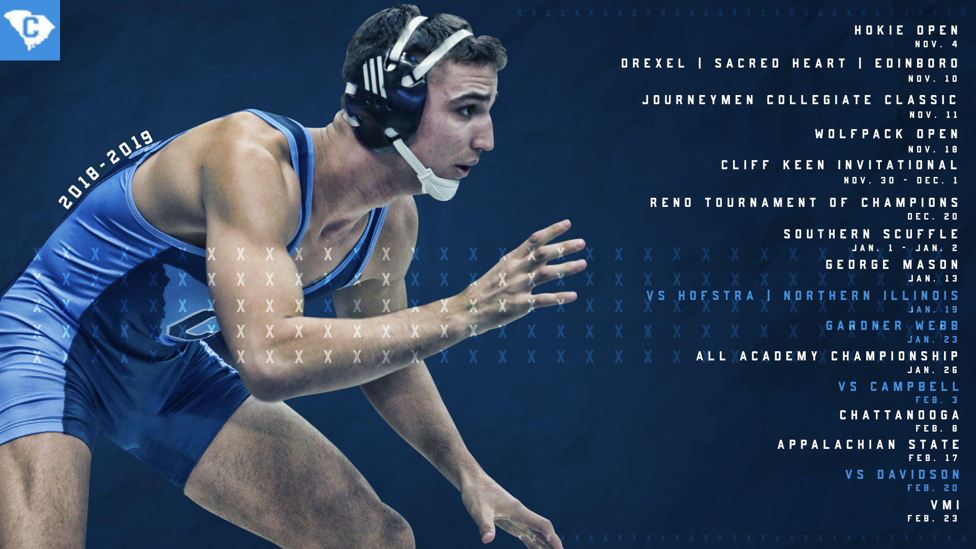 Citadel Wrestling Releases 2018 18 Schedule   The Citadel Athletics 1920x1080