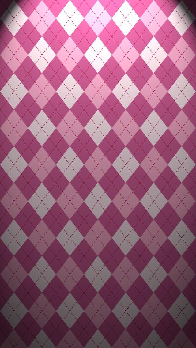 Pink Argyle iPhone Wallpaper Wallpaper for Phones Pinterest 640x1136