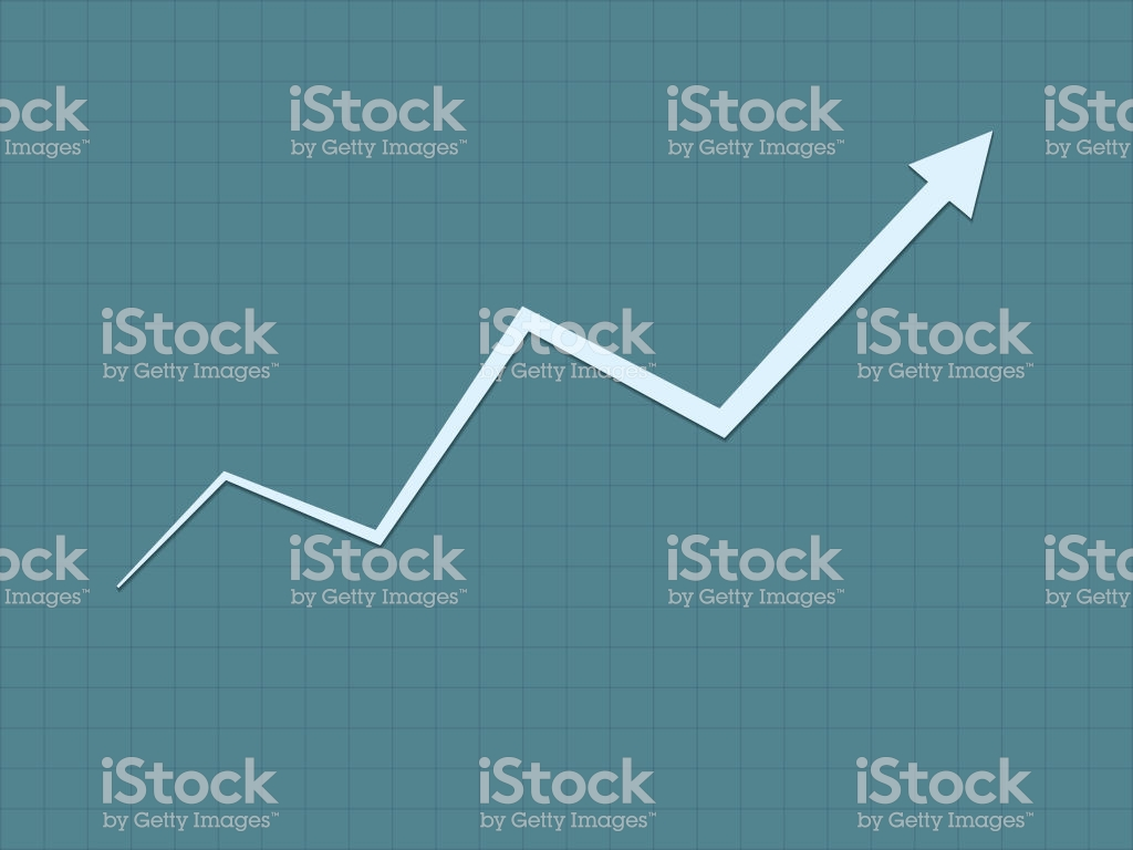 A Cool And Simple Blue Upward Trend Growth For Success Graph For 1024x768