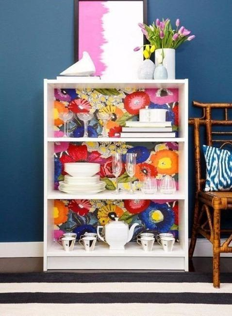 Ideas to Use Modern Wallpaper for Storage Furniture Decoration 478x650