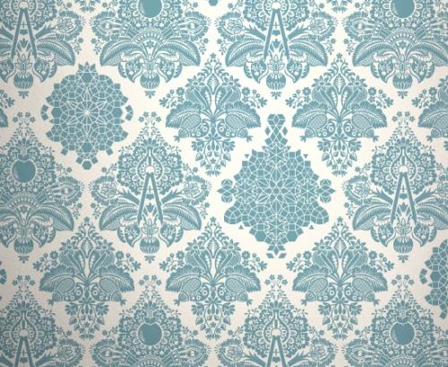 Dorian Orange a wallpaper pattern by Dan   PATTERNBLOG 500x409