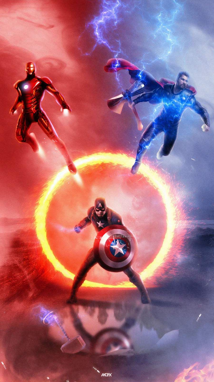 Avengers Endgame Trinity iPhone Wallpaper   iPhone Wallpapers 900x1600