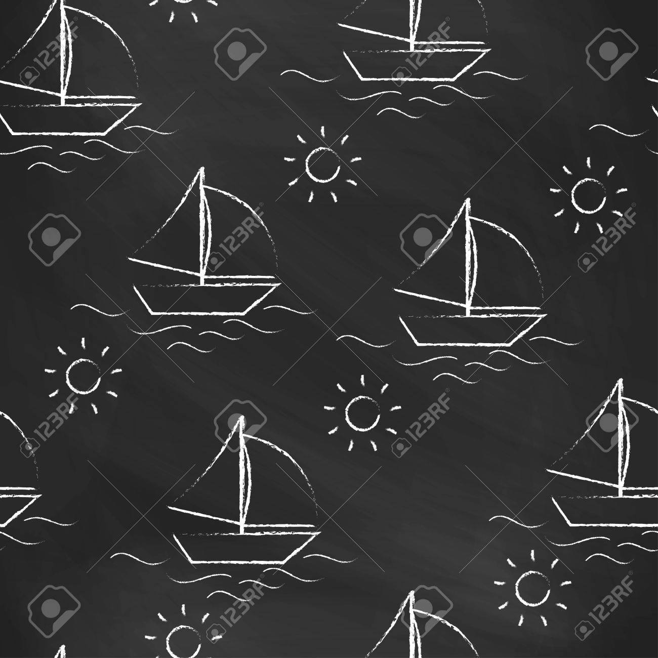 Seamless Pattern Black Chalk Board With White Childrens Chalk 1300x1300