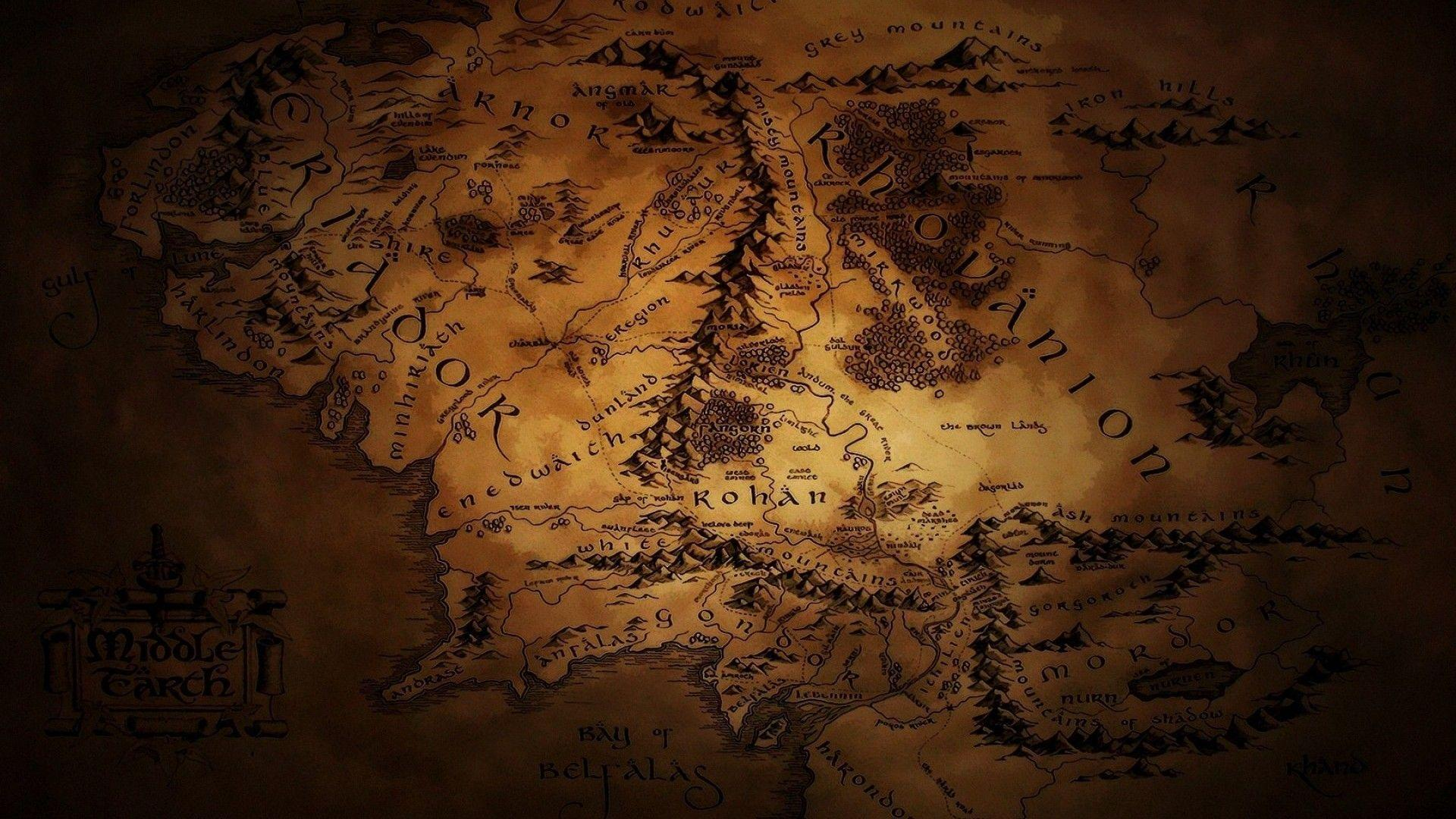Map Of Middle Earth Wallpapers 1920x1080