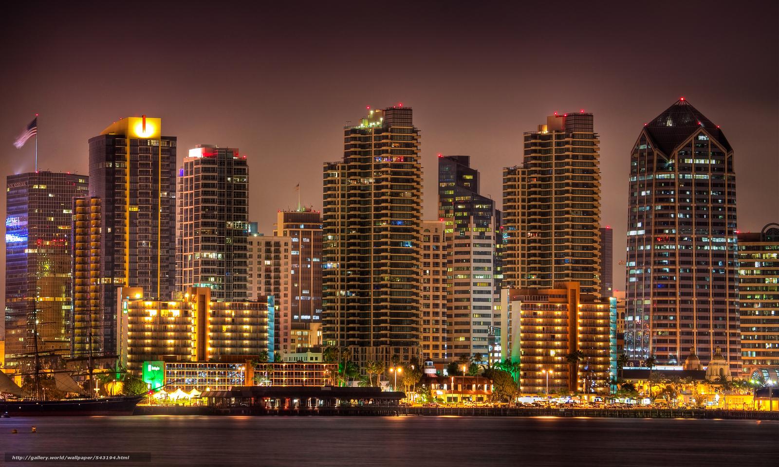 wallpaper San Diego city night lights desktop wallpaper 1600x960