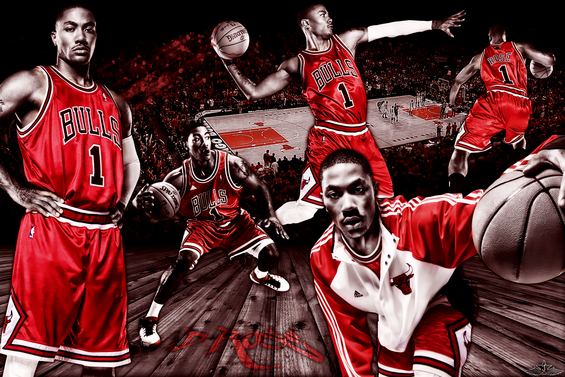 HQ] Wallpaper Derrick Rose of Chicago Bulls 1920x by ArtworkByJayRay 1920x1280