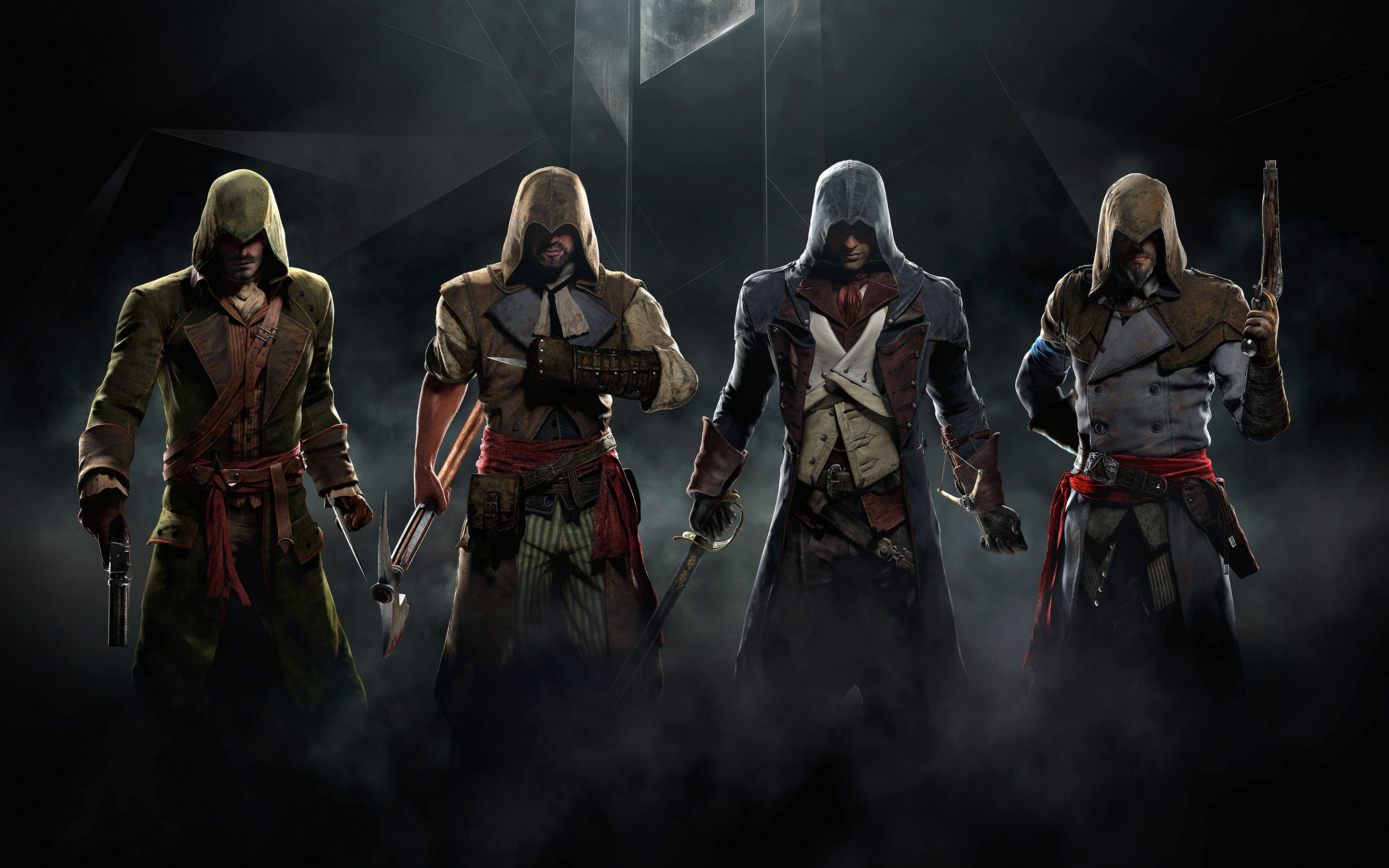 Obviously Ubisoft has modeled the three promotional co op characters 2880x1800