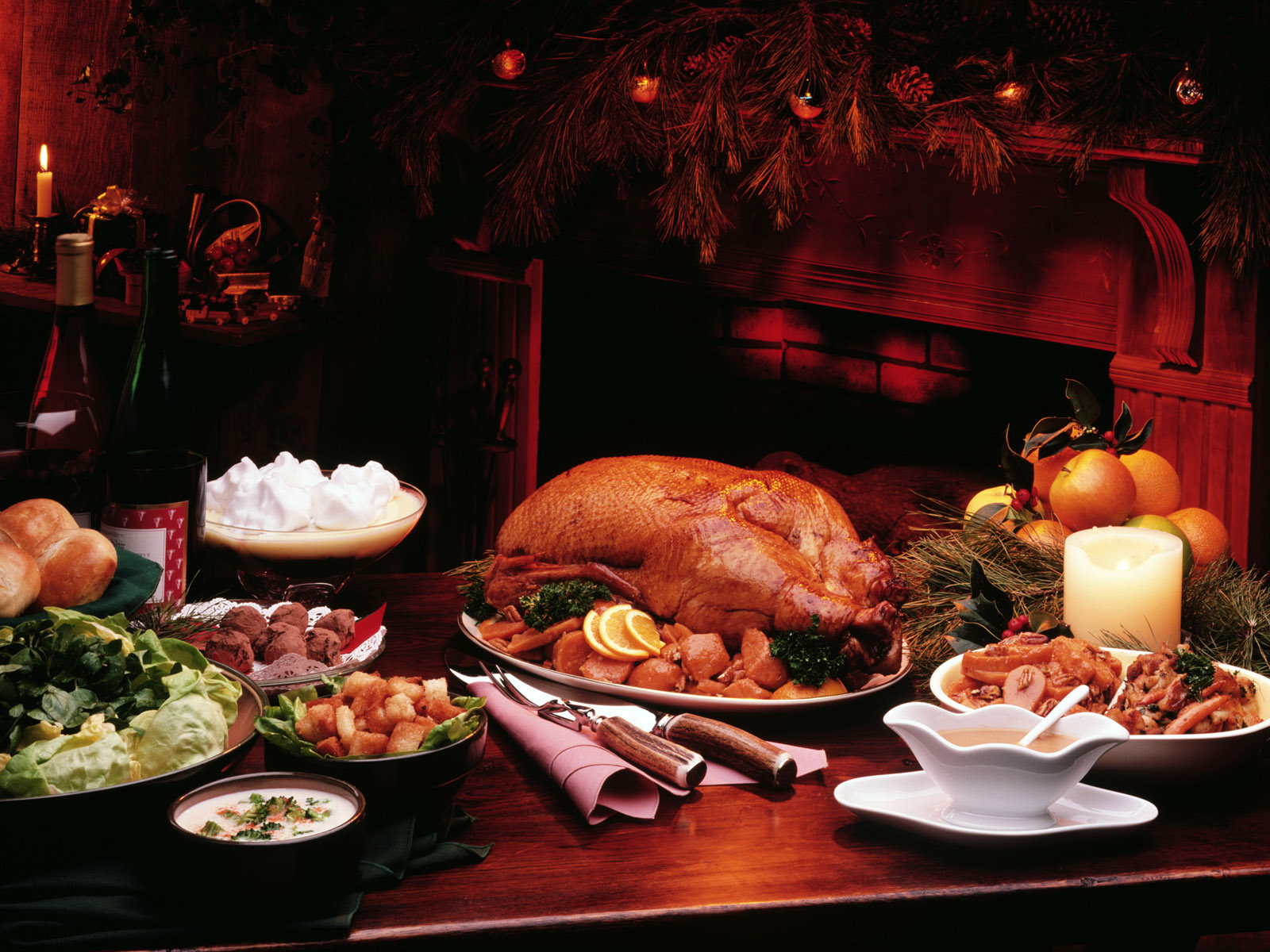 Holiday Thanksgiving Turkey Dinner Picture 2012 HD Wallpaper w 1600x1200