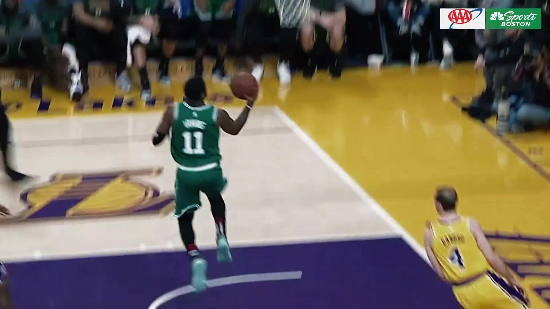 Kyrie Irving shows off behind the back reverse layup NBC Sports 1920x1080