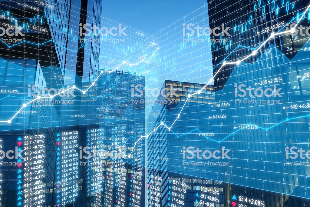 Business City Stock Market Data And Charts On Skyscrapers 1024x683