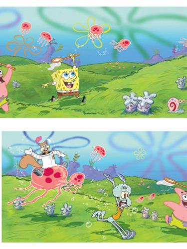 spongebob wallpaper border 375x500