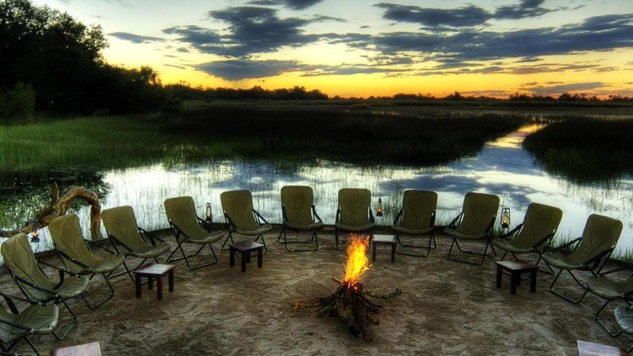 Trees africa safari camp fire rest relaxation wallpaper 14266 1280x720