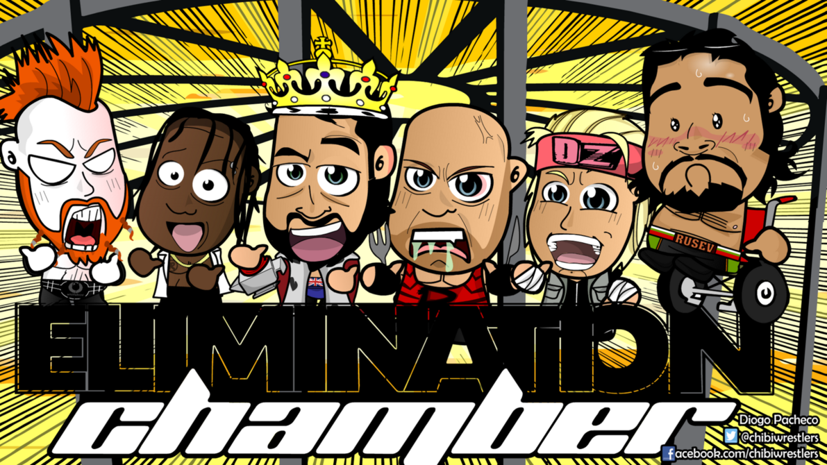 Elimination Chamber 2015   WWE Chibi Wallpaper by kapaeme on 1191x670