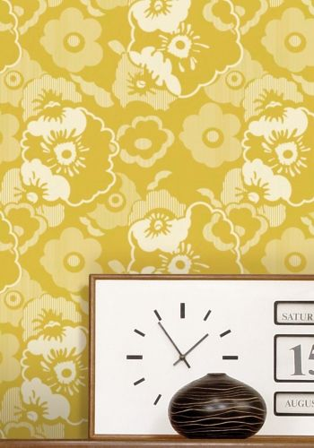 Alice wallpaper   Mustard   45 from mini moderns   quote SAMPLE for 350x500