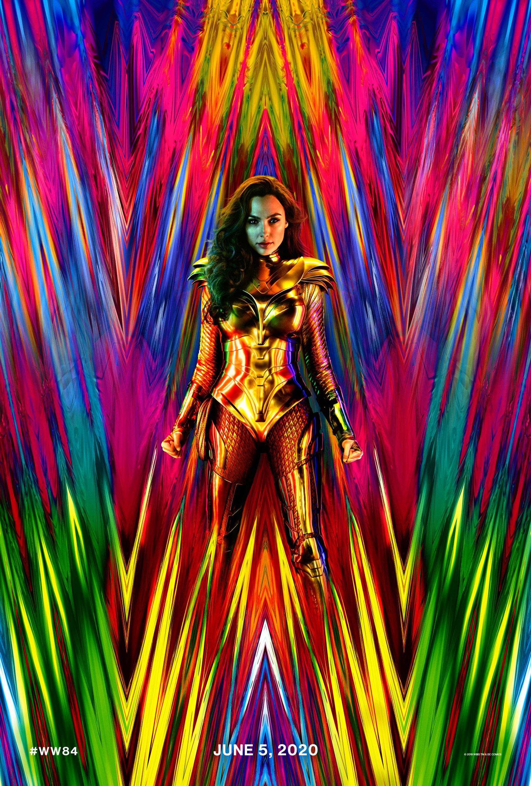 Wonder Woman 1984 Poster Goes Wild Unveils New Costume Film 1800x2667