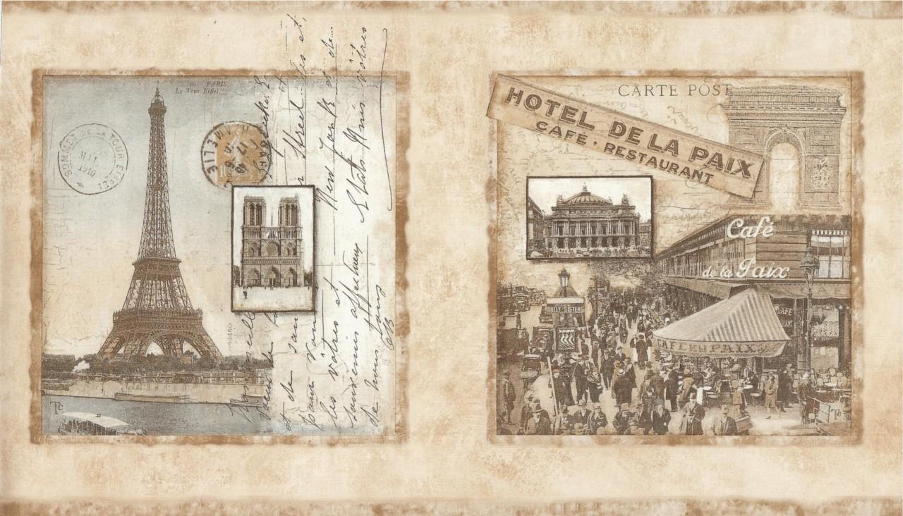 Обои открытки париж