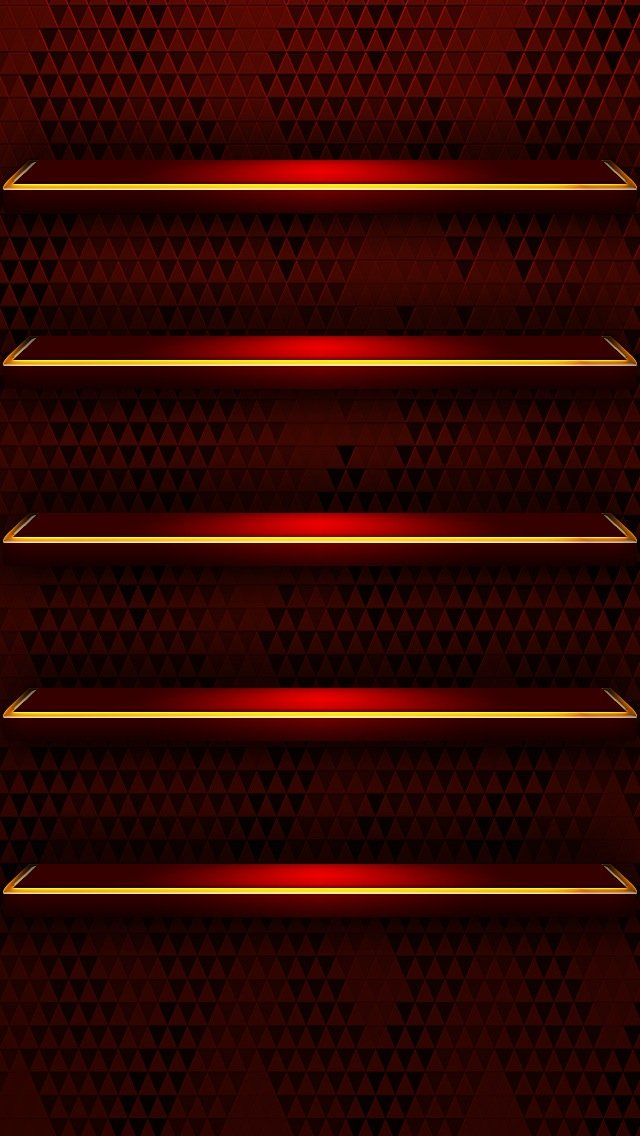 Red Glossy Shelves Wallpaper   iPhone Wallpapers 640x1136