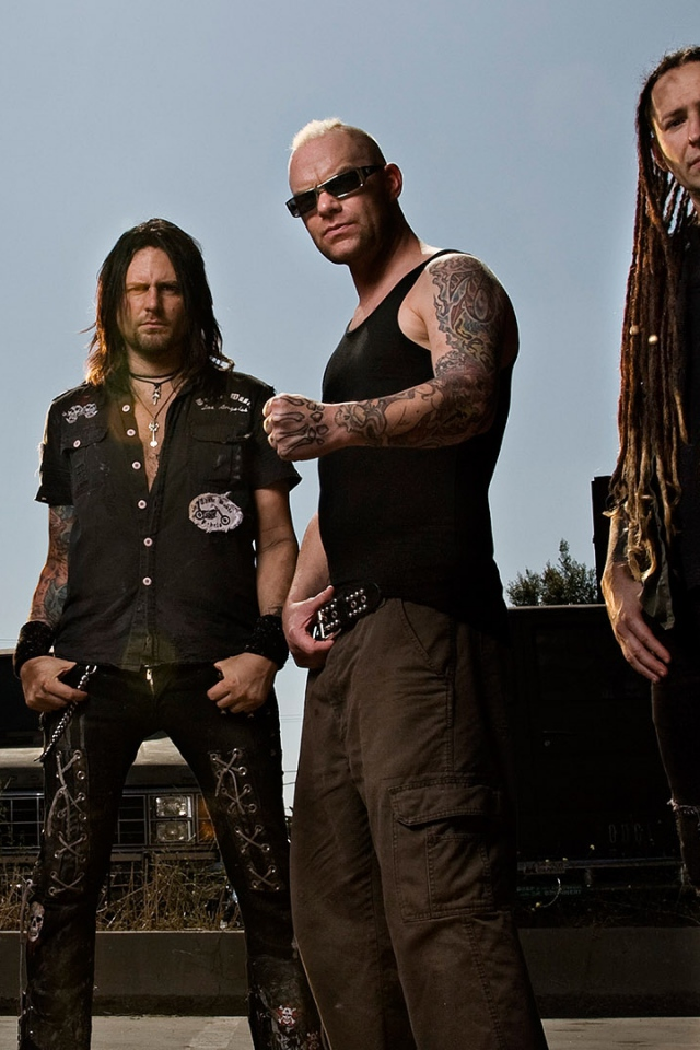 Wallpaper 640x960 five finger death punch tattoo iroquois beard 640x960