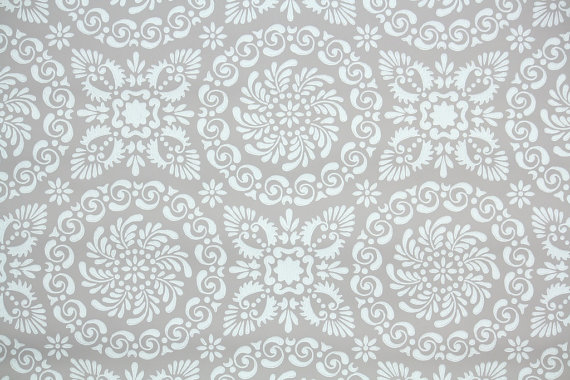 1940s Vintage Wallpaper White Geometric by HannahsTreasures 570x380