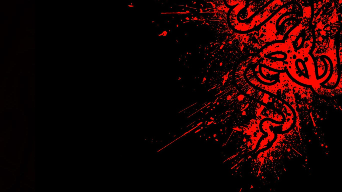 Razer Red HD Wallpapers Backgrounds 1366x768