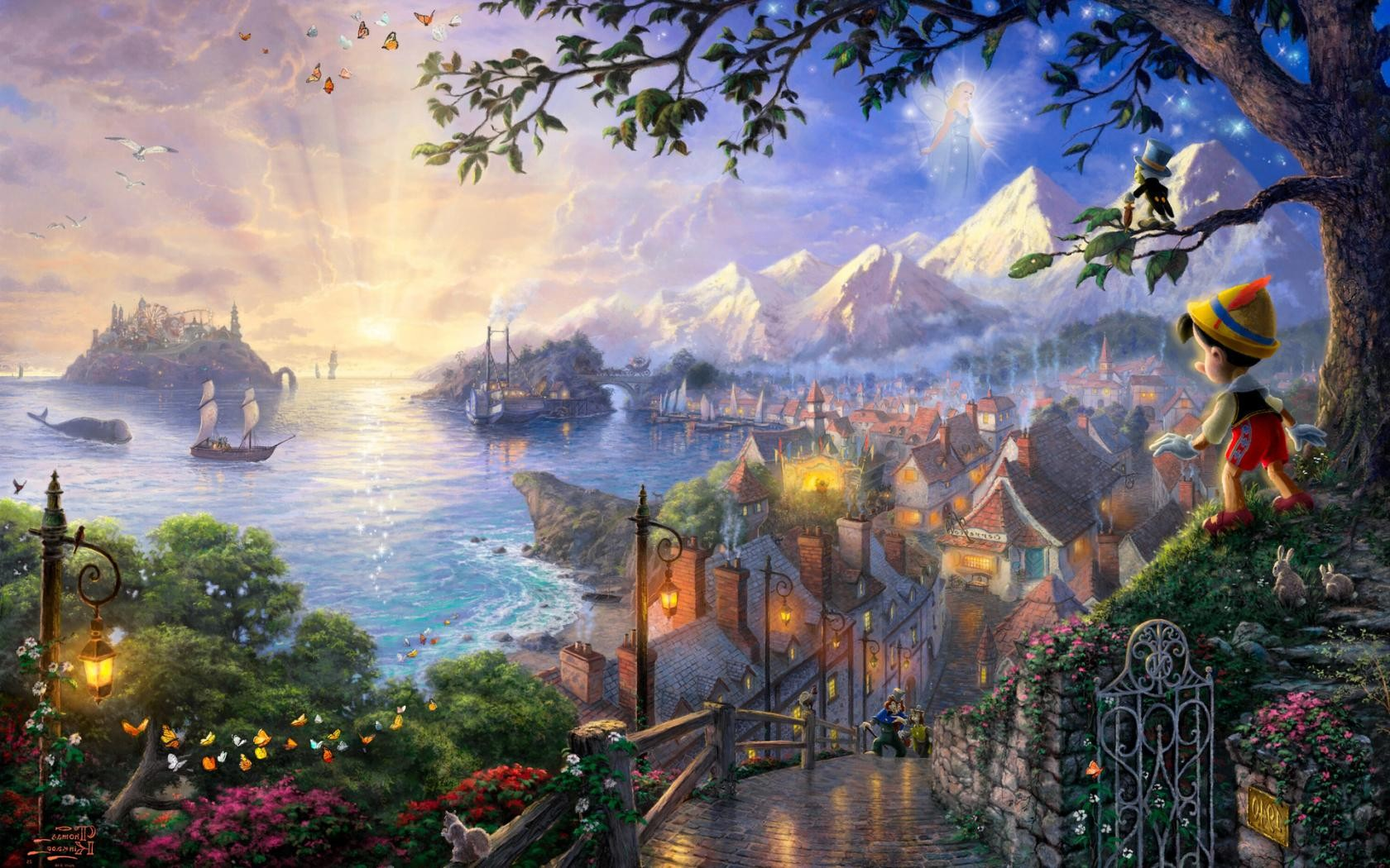 Pinocchio Walt Disney hd wallpaper background HD Wallpapers 1680x1050