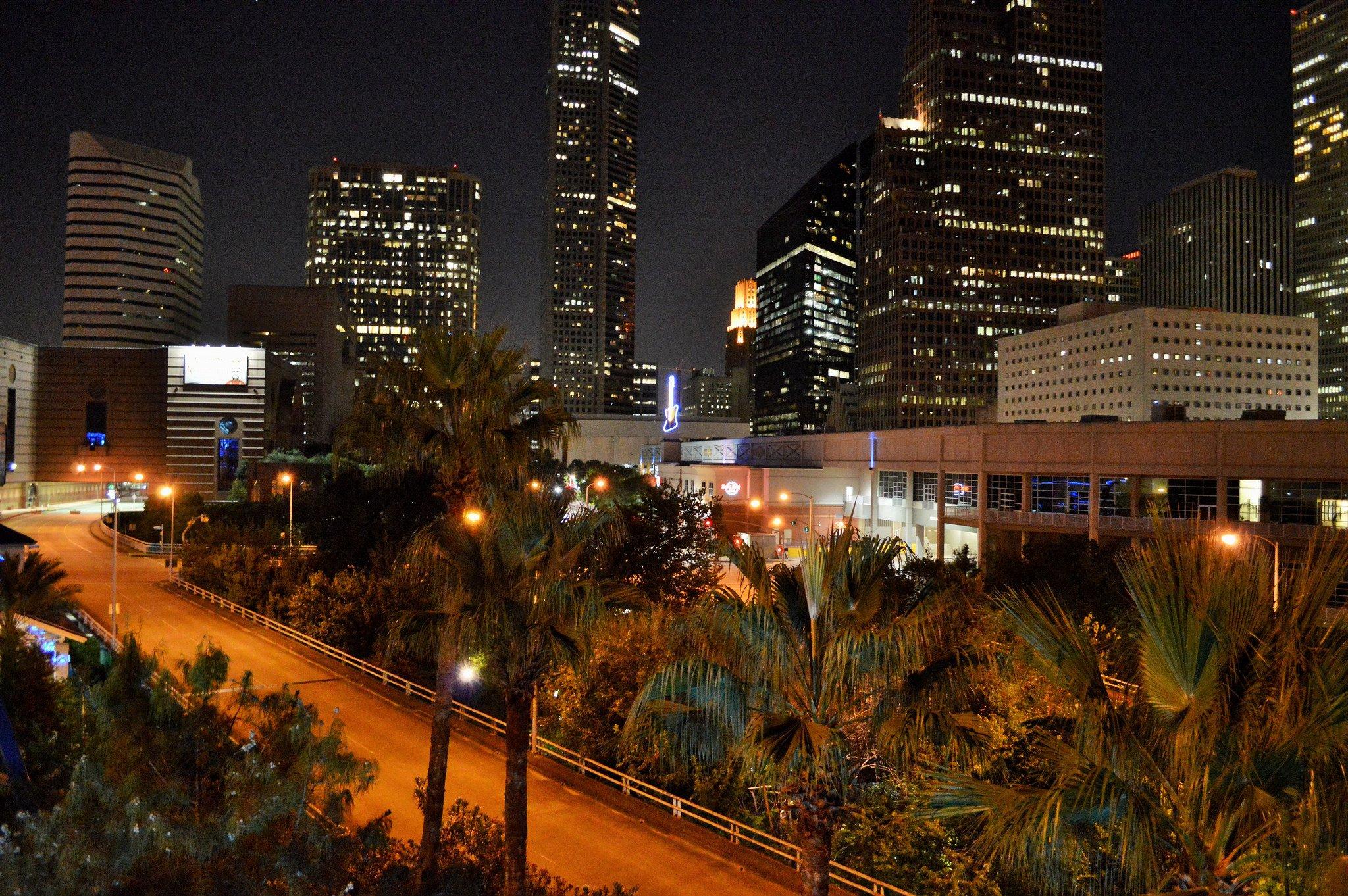 Houston architecture bridges cities City texas Night towers buildings 2048x1362