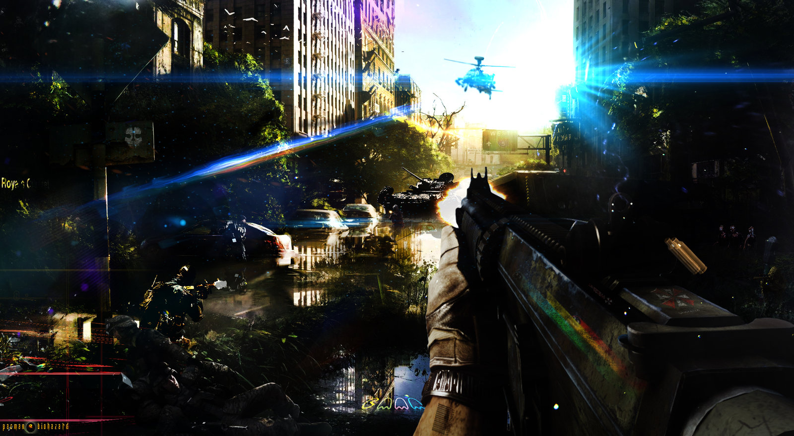 First Person Shooter HD Background   Battlefield by pacmanbiohazard on 1600x880
