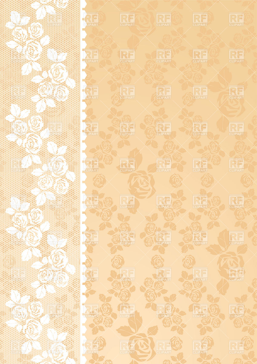 Lacy beige retro wallpaper with roses 18775 Backgrounds Textures 848x1200