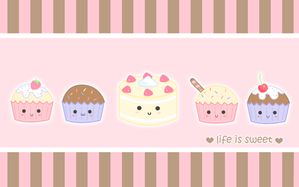 cute cartoon cupcake wallpaperjpg 1024x640