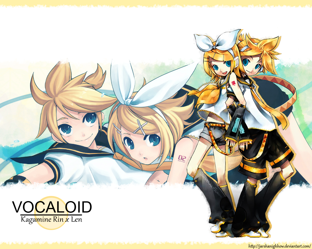 Kagamine Rin x Len wallpaper by JarshaNighhow 1280x1024