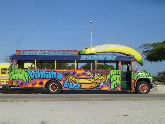 this bus screams FUN   Picture of Banana Bus Palm   Eagle Beach 550x412
