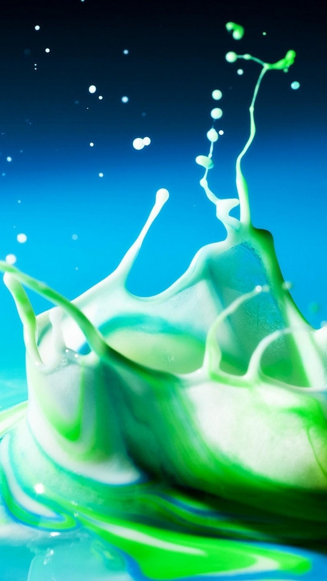 Free Milky Green Liquid Wallpaper IPhone X 2019 3D